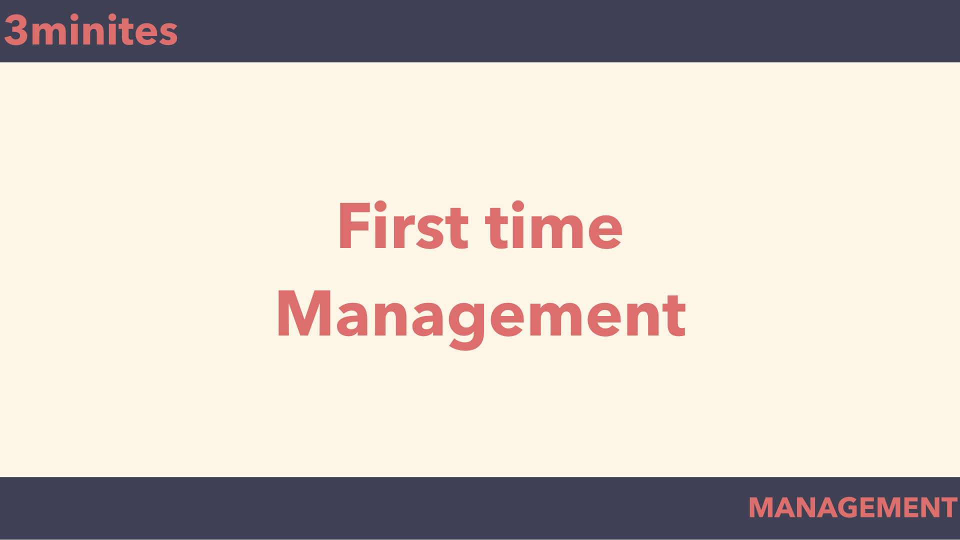first management