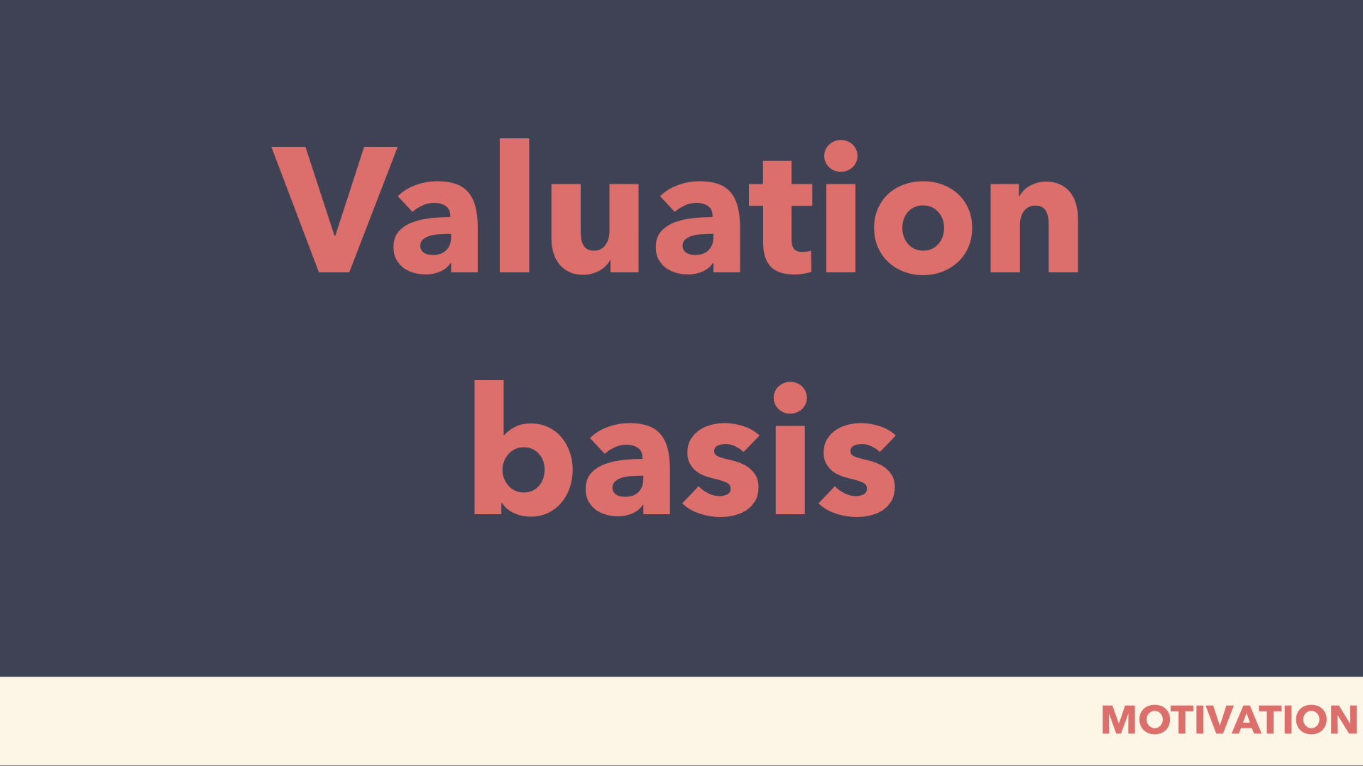 valuation basis