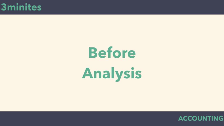 before-analysis