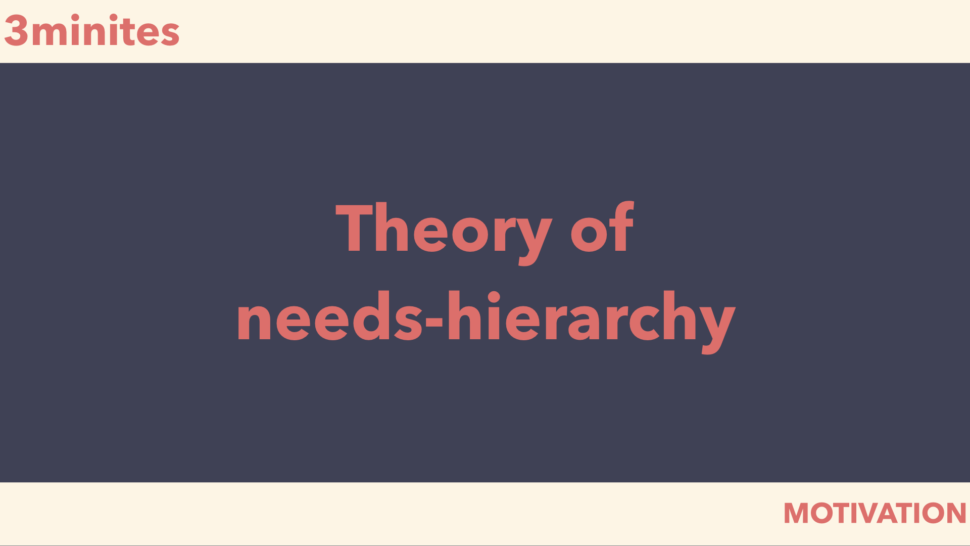 theory of needs-hierarchy