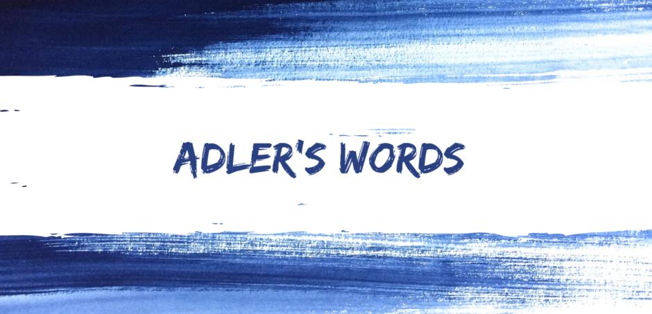 adler's words