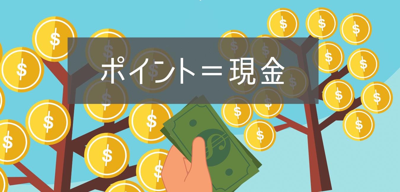 ポイント=現金